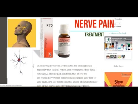 How to treat nerve pain with Homeopathy? Reckeweg R70 Neuralgia drops