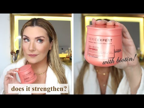 I TRY L'OREAL BIOTIN INFORCER HAIR MASK: DOES THIS MASK REALLY WORK?  + OLAPLEX COMPARISON