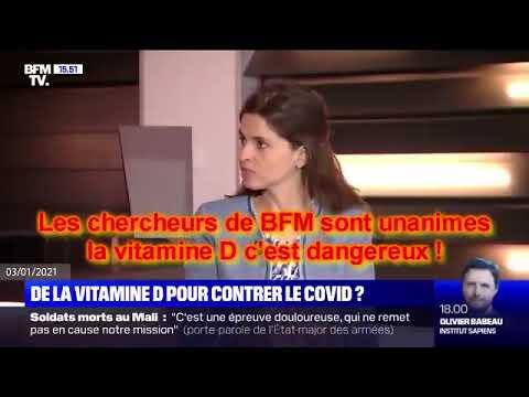🛑 La vitamine D est dangereuse selon Bfm WC à mourir de rire.