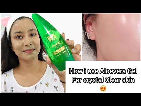How To Use Aloe Vera Gel For Clear Skin and Healthy Hair | Gleamino aloevera gel